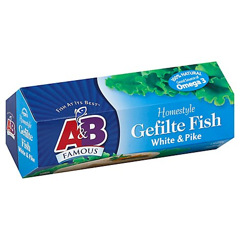 A & B Famous Gefilte Fish Homestyle White & Pike - 20 Oz