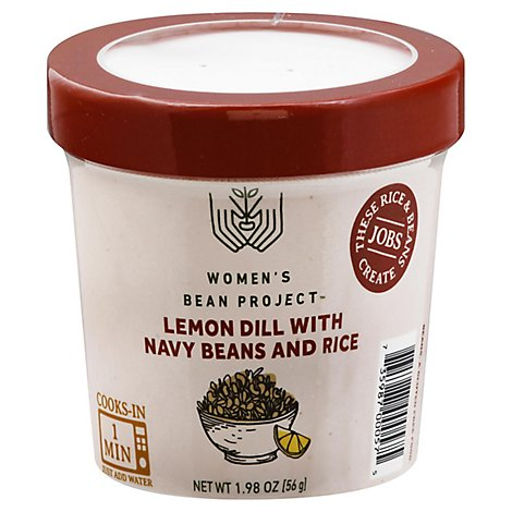 Womens Bean Project Meal Cup Lemon Dill Navy Beans And Rice - 1.98 Oz