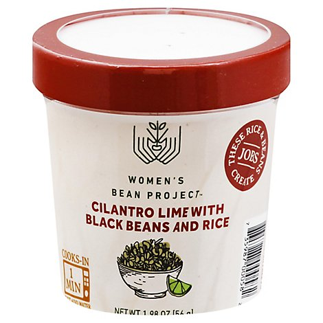 Womens Bean Project Meal Cup Cilantro Lime With Black Beans And Rice - 1.98 Oz
