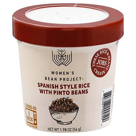 Womens Bean Project Meal Cup Spanish Style Rice With Pinto Beans - 1.98 Oz