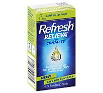 Refresh Relieva For Contacts Eye Drops Lubricant - 0.27 Fl. Oz.