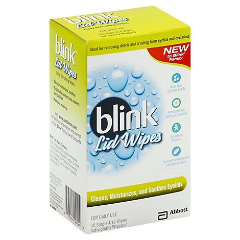 Blink Lid Wipes - 30 Count