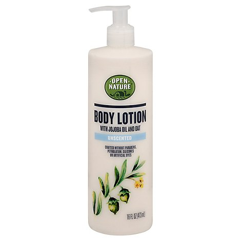 Open Nature Body Lotion With Jojoba Oil And Oat Unscented - 16 Fl. Oz.