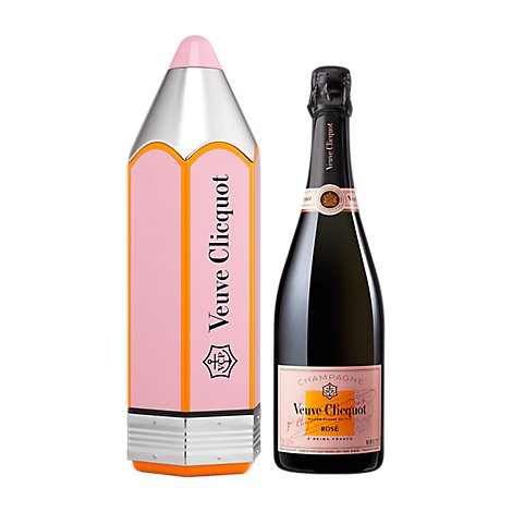 Veuve Clicquot Champagne Rose Pencil Gift Pack - 750 Ml