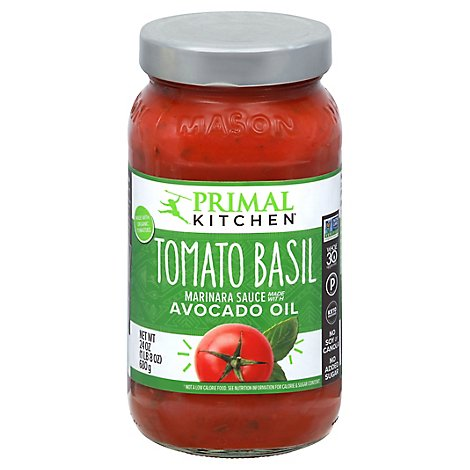 Primal Kitchen Avocado Oil Pasta Sauce Marinara Tomato Basil - 24 Oz