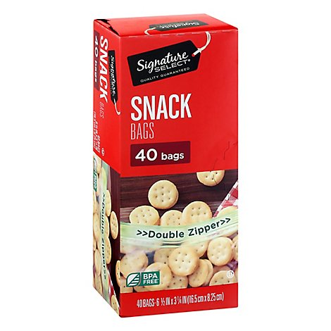 Signature Select Bags Snack Reseal - 40 Count