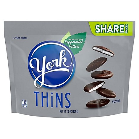 York Peppermint Patties Dark Chocolate Covered Thins Share Pack - 7.2 Oz