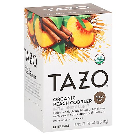 Tazo Tea Orgnc Peach Cobbler - 20 Count