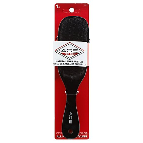ACE For Men Hairbrush Natural Boar Bristles All Purpose Styling - Each