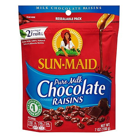Sun-Maid Raisins Pure Milk Chocolate - 7 Oz