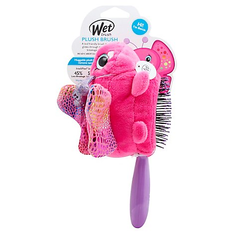 WetBrush Hairbrush Plush Butterfly - Each