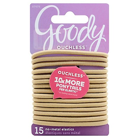Goody Ouchless Elastics No Metal 4 mm Blonde - 15 Count