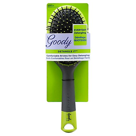 Goody Detangle It Hairbrush Oval Comfortable Bristles Everyday Detangling - Each