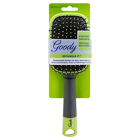 Goody Detangle It Hairbrush Paddle Comfortable Bristles Everyday Detangling - Each