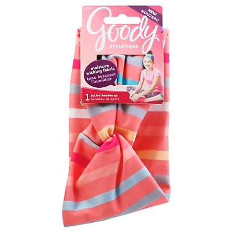 Goody Athletique Girls Headwrap Active Turban Striped - Each