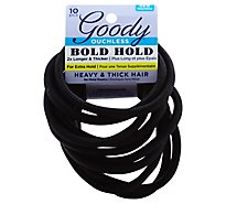 Goody Ouchless Elastics No Metal Bold Hold Heavy & Thick Hair - 10 Count
