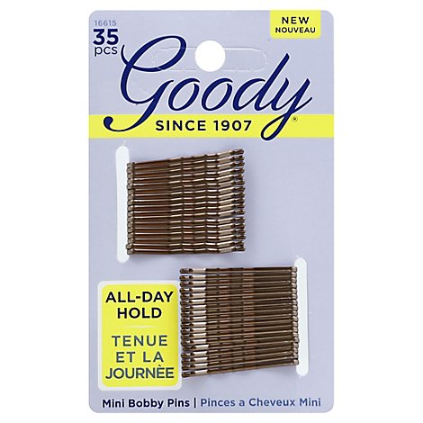 Goody Bobby Pins Mini Brown - 35 Count