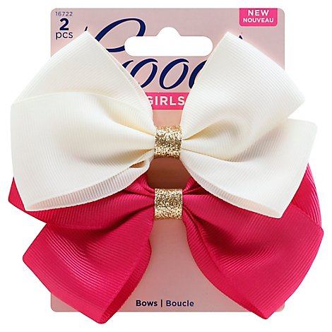 Goody Girls Barrettes Bow Gold - 2 Count