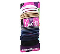 Goody Ouchless Elastics No Metal Braided Medium Hair Assorted - 70 Count
