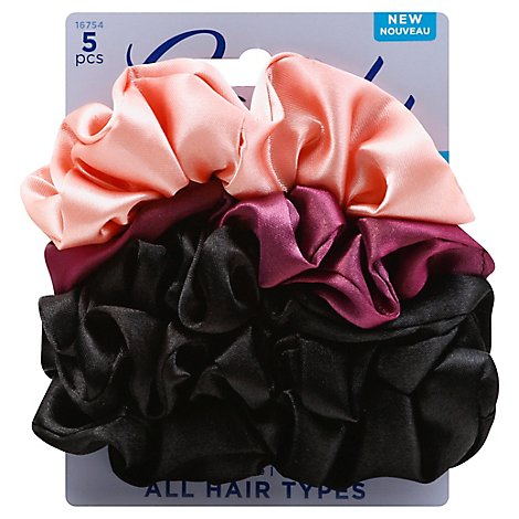 Goody Ouchless Scrunchies Silky All Hair Types Assorted - 5 Count