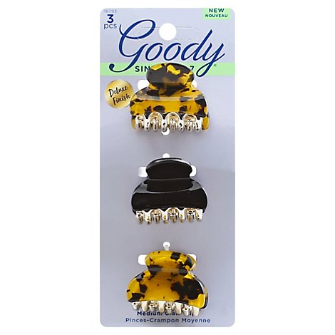 Goody Claw Clips Premium Small Tortoise - 3 Count
