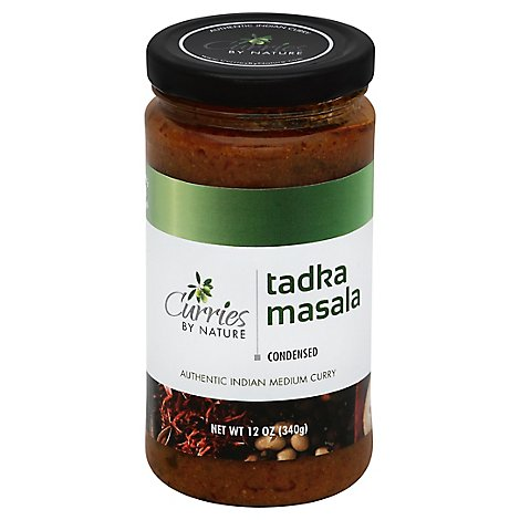 Curries By Nature Curry Authentic Indian Condensed Tadka Masala Medium - 12 Oz