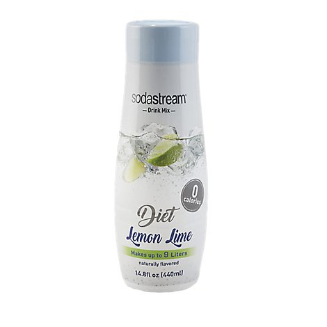 SodaStream Sparkling Drink Mix Diet Lemon Lime - 14.8 Fl. Oz.