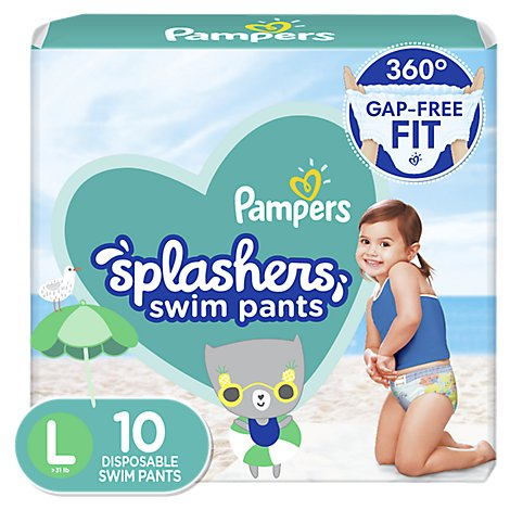 Pampers Splashers Swim Diapers Size L - 10 Count