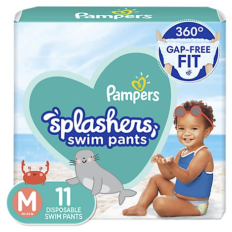 Pampers Splashers Swim Diapers Size M - 11 Count
