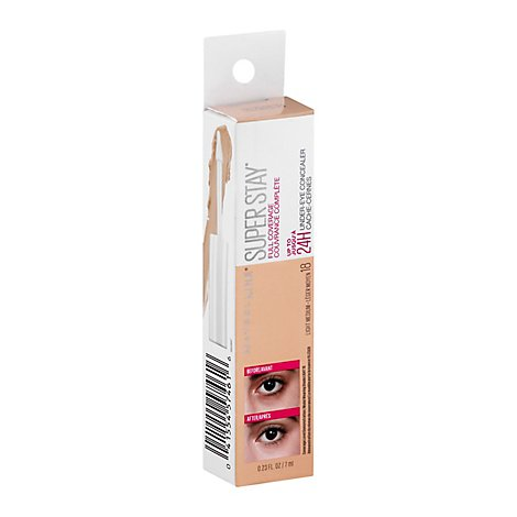 Maybelline Super Stay Concealer Under Eye Light Medium 18 - 0.23 Fl. Oz.
