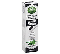 Open Nature Toothpaste Activated Charcoal Mint - 4.8 Oz