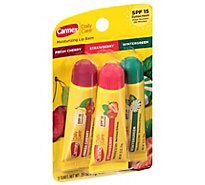 Carmex Daily Care Lip Balm Moisturizing SPF 15 Assorted - 3-0.35 Oz