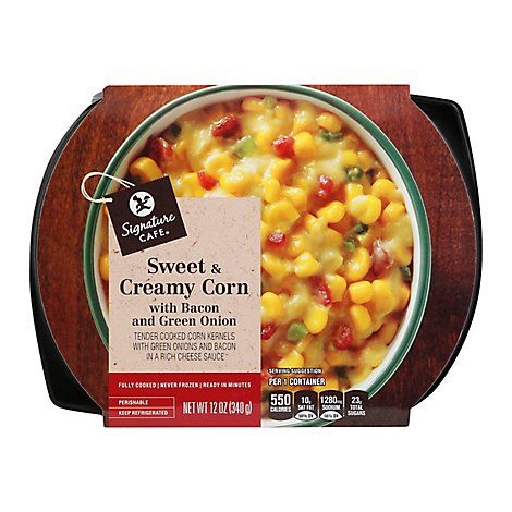 Signature Cafe Sweet & Creamy Corn with Bacon & Green Onion - 12 Oz