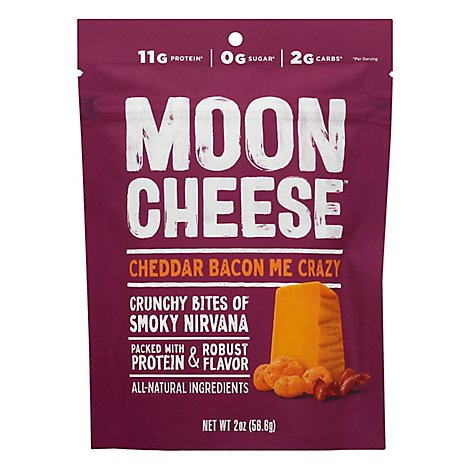 Moon Cheese Cheese Snck Bacon Me Crzy - 2 Oz