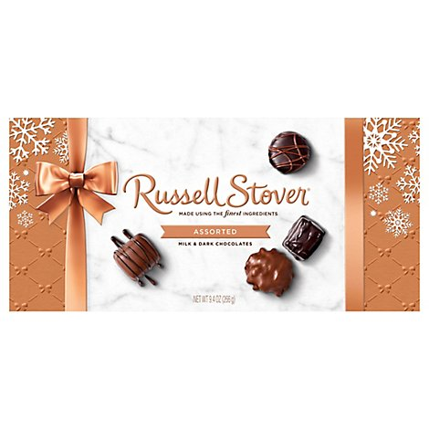 Russell Stover Chocolate Milk & Dark Assorted Holiday - 9.4 Oz