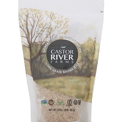 Castor River Farms Rice Brown Long Grain - 32 Oz