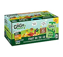GoGo squeeZ Applesauce On The Go Apple Banana Mango Variety Pack - 20-3.2 Oz