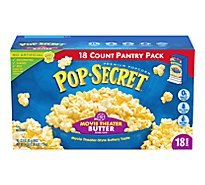 Pop-Secret Popcorn Microwave Movie Theater Butter Pantry Pack - 18-3 Oz