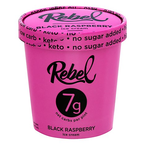 Rebel Ice Cream Raspberry 1 Pint - 473 Ml