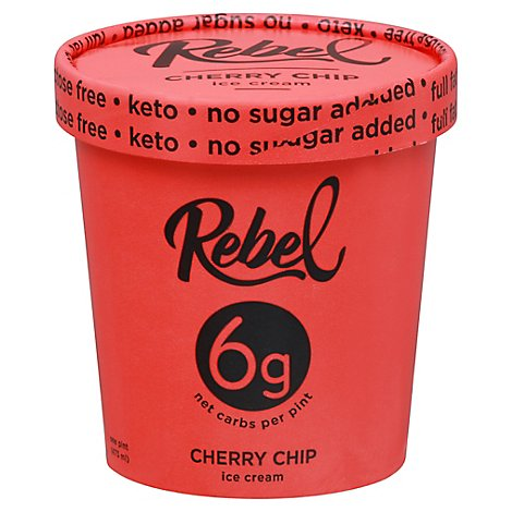 Rebel Ice Cream Cherry Chip 1 Pint - 473 Ml