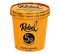 Rebel Ice Cream Salted Caramel 1 Pint - 473 Ml