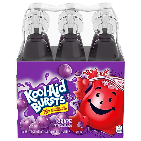 Kool-Aid Bursts Soft Drink Grape - 6-6.75 Fl. Oz.