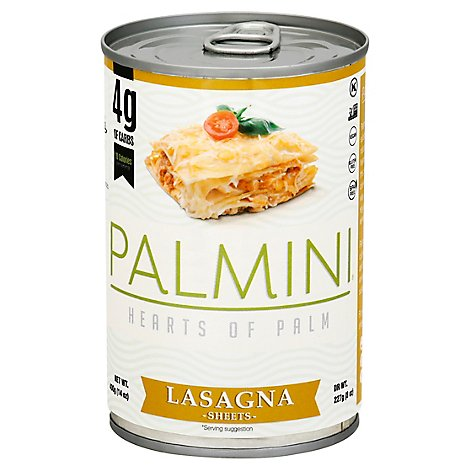 Palmini Pasta Hearts Of Palm Lasagna Sheets - 14 Oz