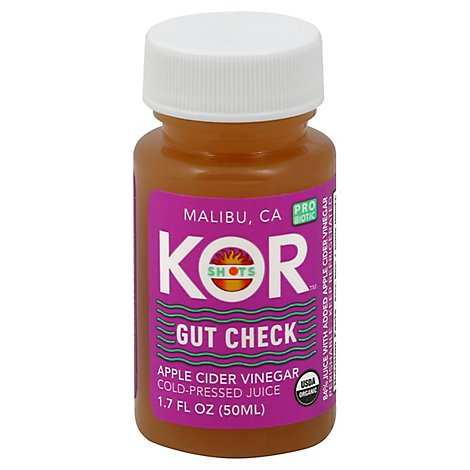 KOR Shots Gut Check Juice Cold Pressed Apple Cider Vinegar - 1.7 Fl. Oz.