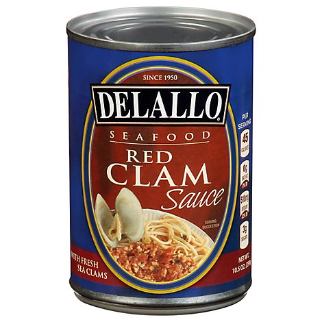 DeLallo Seafood Clam Sauce Red - 10.5 Oz