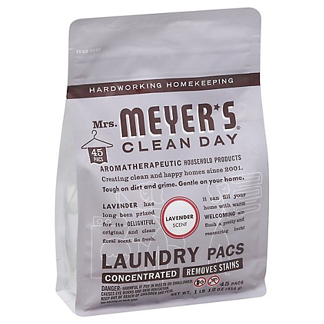 Mrs. Meyers Clean Day Laundry Pacs Lavender Scent - 45 Count