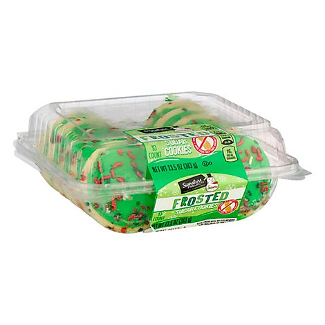 Signature Select Season Sugar Cookie Frosted Green - 13.5 Oz