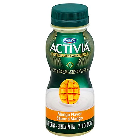 Activia Probiotic Yogurt Drink Lowfat Mango - 7 Fl. Oz.