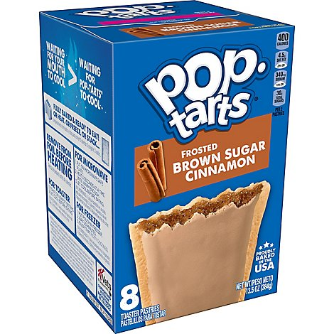 Pop-Tarts Toaster Pastries Frosted Brown Sugar Cinnamon 8 Count - 13.5 Oz