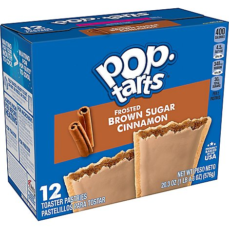 Pop-Tarts Breakfast Toaster Pastries Frosted Brown Sugar Cinnamon - 20.3 Oz